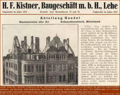 Fachzeitschrift H. F. Kistner, Baugeschäft