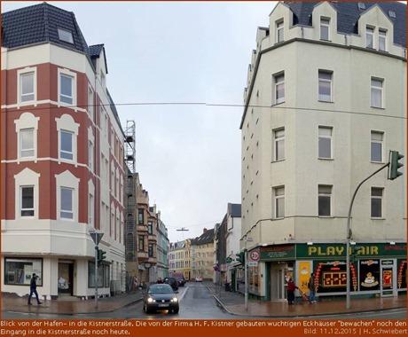 Blick von der Hafenstraße in die Kistnerstraße