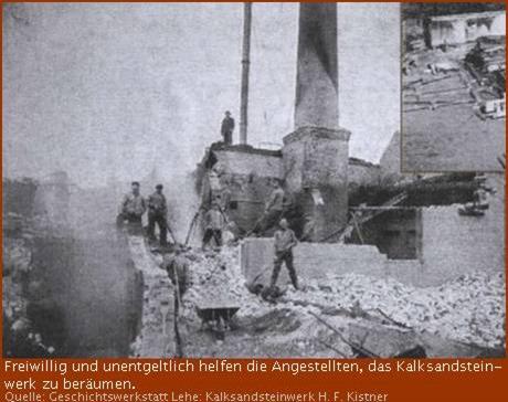 Beräumungsarbeiten Kalksandsteinwerk