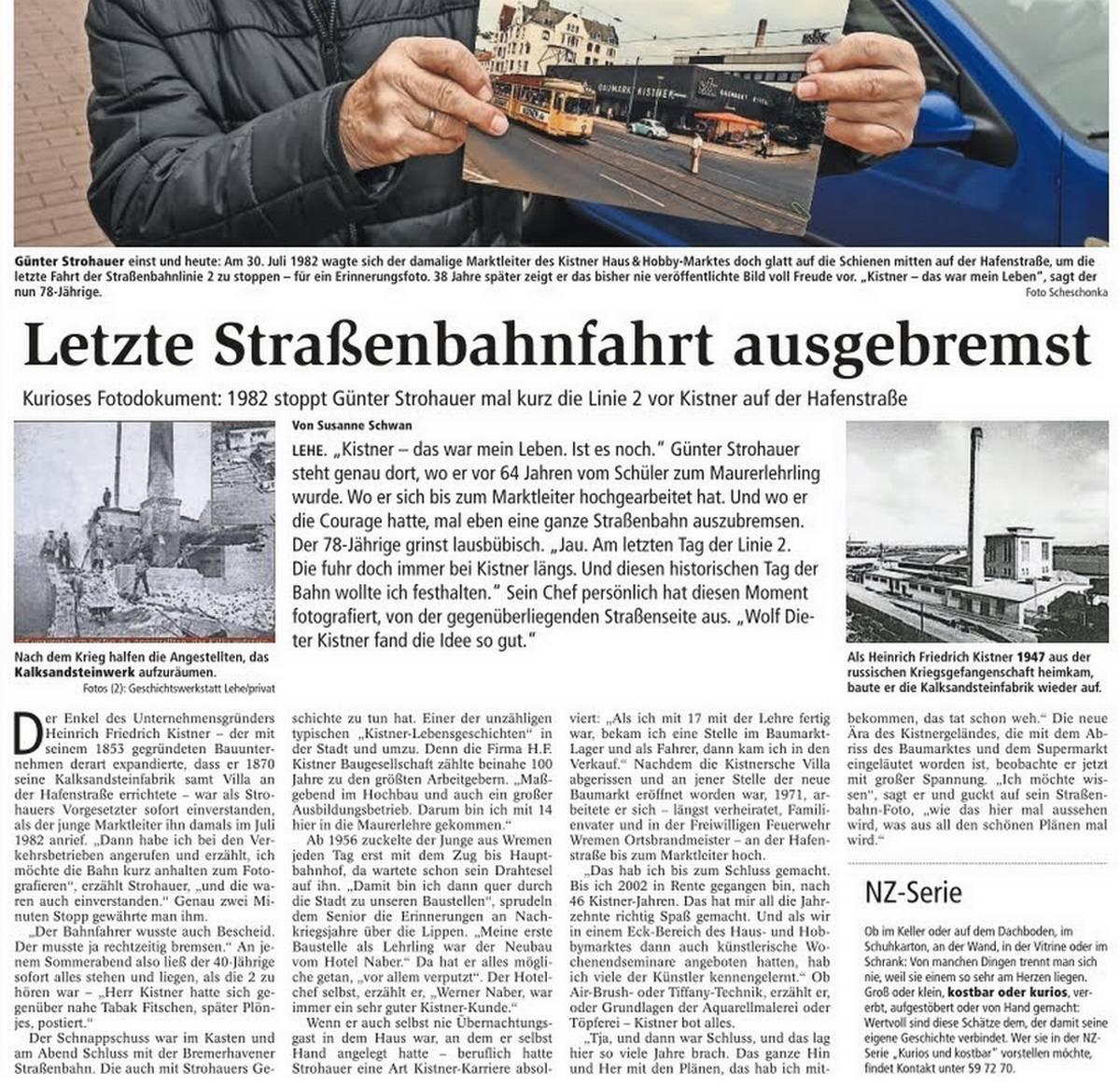 Nordsee-Zeitung Artikel vom 16-11-2020
