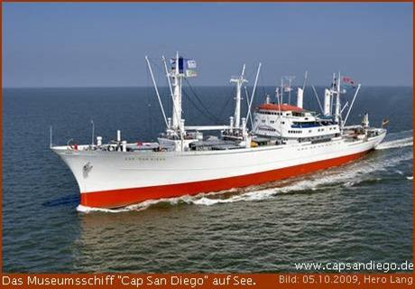 """Museumsfrachtschiff """"Cap San Diego"""" kommt nach Bremerhaven"""