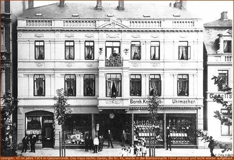 Geestemünde, Georgstraße 43, im Jahre 1904