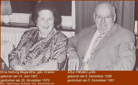 Ehepaar Artur und Erna Lunte