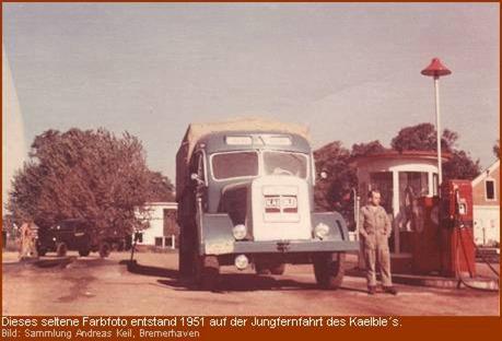 1951 Jungfernfahrt mit dem Kaelble