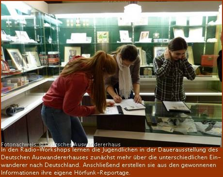 Ferienprogramm im Deutschen Auswandererhaus