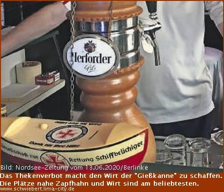 """Die Gaststätte """"Gießkanne"""" in der Rickmersstraße"""