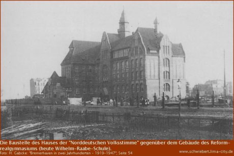 """Das ehemalige Verlagsgebäude der """"Norddeutschen Volksstimme"""""""