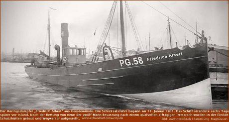 """Heringsdampfer """"Friedrich Albert"""" aus Geestemünde"""