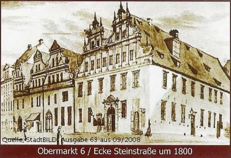 Obermarkt Ecke Steinstraße Kürschnerfamilie Thorer